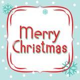 Знамя вектора с Рождеством Христовым иллюстрация штока