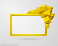 знамя вектора 3d стоковое фото