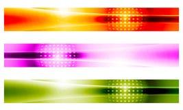 Знамя 3 векторов Стоковое Фото