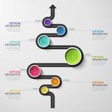 Знамя временной последовательности по делового круга Стоковые Изображения