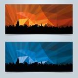 Знамя горизонта с космосом экземпляра Стоковые Фотографии RF