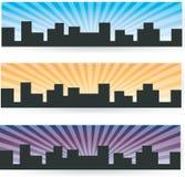 Знамя города Стоковые Изображения RF
