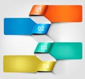 Знамя графиков информации с номерами. Стоковые Изображения RF