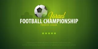 Знамя дизайна футбола или футбола Чемпионат футбола Израиля Шарик вектора также вектор иллюстрации притяжки corel бесплатная иллюстрация