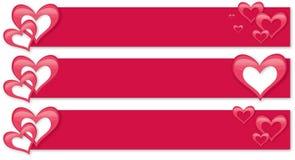 Знамя дня Валентайн Стоковые Фото