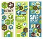 Знамя защиты среды для концепции eco Стоковая Фотография RF