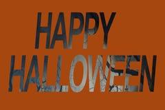 Знамя знака хеллоуина Стоковая Фотография