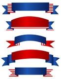 Знамя/знамена США патриотические Стоковая Фотография