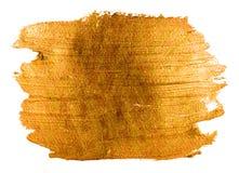 Знамя золота коричневое акриловое Стоковое Изображение RF