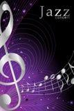 Знамя или плакат для иллюстрации концерта джазовой музыки иллюстрация вектора