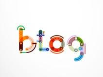 Знамя литерности слова блога Стоковое Изображение RF