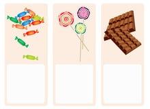 Шоколады, Lollipops и трудная конфета на симпатичном Bac Стоковые Изображения RF