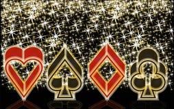 Знамя казино покера, вектор Стоковая Фотография