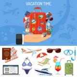 Знамя каникул и туризма Стоковое Изображение