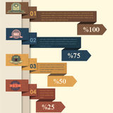Знамя & карточка вариантов номера предпосылки вектора иллюстрация штока