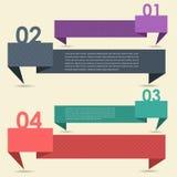 Знамя & карточка вариантов номера предпосылки вектора Стоковые Фотографии RF