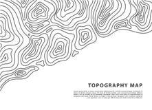 Знамя карты топографии вектора абстрактное Топографическая предпосылка контура Решетка Topo стоковая фотография rf