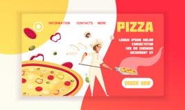 Знамя концепции пиццы иллюстрация вектора