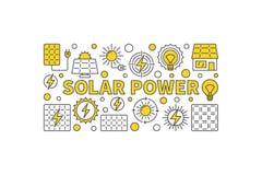 Знамя концепции солнечной энергии Стоковые Фотографии RF