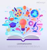Знамя концепции Infographic образования Стоковые Изображения RF