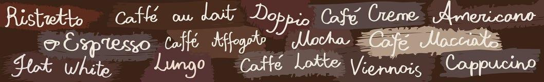 Знамя кофе горизонтальное Стоковое Изображение RF