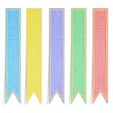 знамя красит 5 тесемок шелковицы бумажных Стоковое фото RF