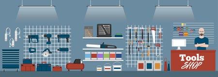 Знамя магазина инструментов с аппаратурами Стоковые Фотографии RF