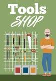Знамя магазина инструментов с аппаратурами Стоковое Фото