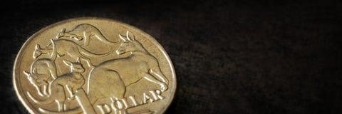 Знамя макроса австралийского доллара Стоковая Фотография RF