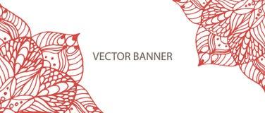 Знамя мандалы цветка стоковые фотографии rf