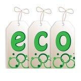 Знамя на теме экологичности Иллюстрация вектора