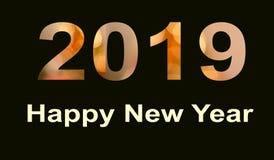 Знамя 2019 Нового Года с влиянием bokeh иллюстрация штока