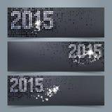 Знамя 2015 Нового Года или комплект заголовка вебсайта иллюстрация вектора