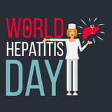 Знамя дня гепатита мира бесплатная иллюстрация