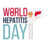 Знамя дня гепатита мира иллюстрация вектора