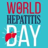 Знамя дня гепатита мира иллюстрация штока