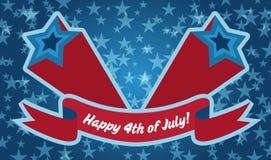 Знамя 4-ое июля Стоковые Изображения