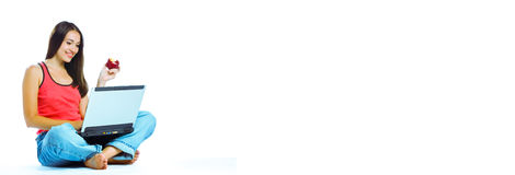знамя он-лайн Стоковые Фотографии RF