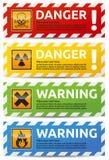 Знамя опасности Стоковая Фотография RF