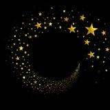 Знамя от потока звезд иллюстрация вектора