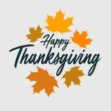 Знамя оформления благодарения ` Благодарения ` счастливое для открытки, значка благодарения или логотипа иллюстрация штока