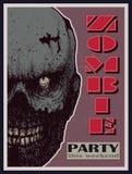 Знамя партии зомби хеллоуина вектора Стоковое Фото