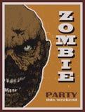 Знамя партии зомби хеллоуина вектора Стоковая Фотография RF