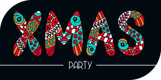 Знамя партии XMAS Стоковые Фотографии RF