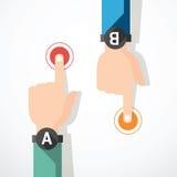 Знамя пальца касающее. illustrati вектора концепции бесплатная иллюстрация
