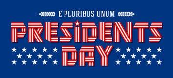Знамя праздника президентов Дня также вектор иллюстрации притяжки corel Стоковая Фотография