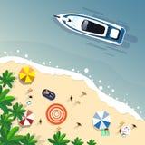 Знамя праздника острова установленного песка каникул пляжа лета тропическое Стоковое Фото