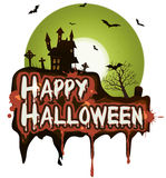 Знамя праздников хеллоуина иллюстрация штока