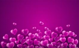 Знамя предпосылки влюбленности с сердцами Стоковое фото RF