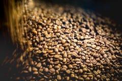 Знамя предпосылки кофе Острое разбивочное изображение и расплывчатые defocused углы Абстрактное знамя кофе Стоковое Изображение